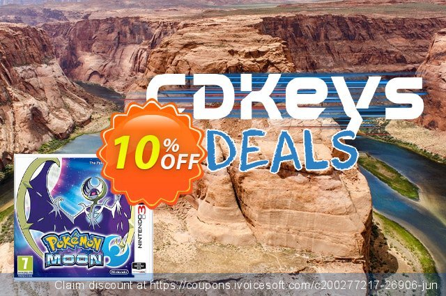 Pokemon Moon 3DS - Game Code discount 10% OFF, 2020 Back to School Promos discounts