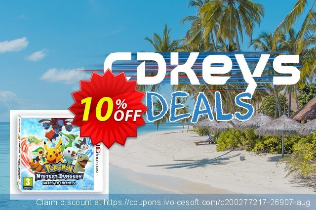 Pokemon Mystery Dungeon: Gates to Infinity 3DS - Game Code discount 10% OFF, 2020 Black Friday offer