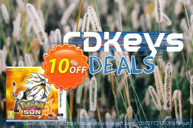 Pokemon Sun 3DS - Game Code discount 10% OFF, 2020 Black Friday offering sales
