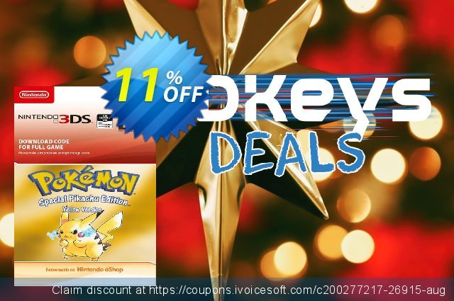 Pokemon Yellow Edition (Spain) 3DS discount 11% OFF, 2021 Spring sales