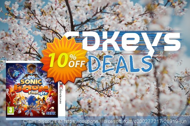 Sonic Boom: Fire and Ice 3DS - Game Code discount 10% OFF, 2020 Black Friday offering sales