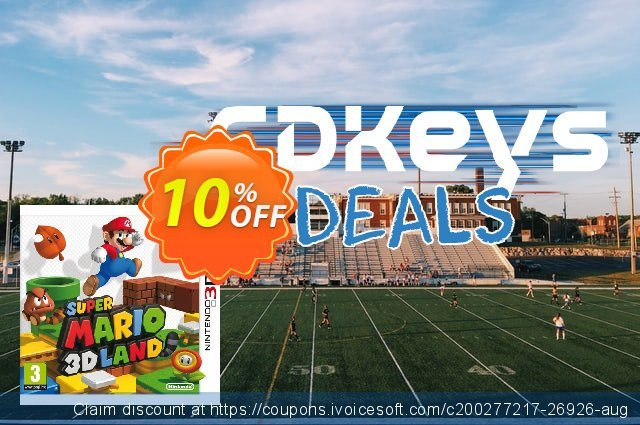 Super Mario 3D Land 3DS - Game Code discount 10% OFF, 2020 Thanksgiving offer