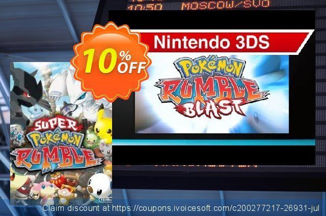 Super Pokémon Rumble 3DS - Game Code discount 10% OFF, 2020 Back to School deals offering sales
