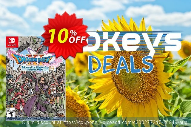 DRAGON QUEST XI 11 S Echoes of an Elusive Age – Definitive Edition Switch (EU) discount 10% OFF, 2021 New Year's Weekend offering sales