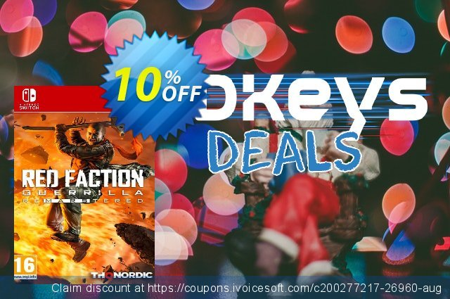 Red Faction Guerrilla Re-Mars-Tered Switch discount 10% OFF, 2021 Happy New Year promo sales