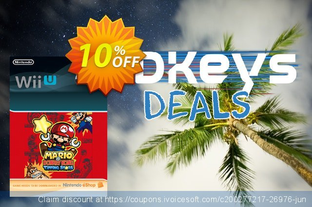 Mario vs. Donkey Kong Tipping Stars Wii U - Game Code discount 10% OFF, 2021 Happy New Year offering discount