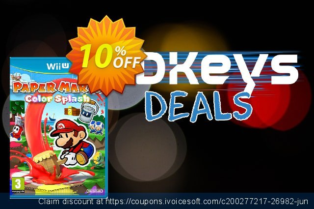 Paper Mario Color Splash Wii U - Game Code  최고의   제공  스크린 샷