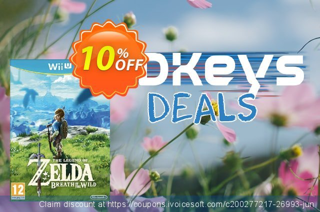 The Legend of Zelda Breath of the Wild Wii U - Game Code discount 10% OFF, 2020 Thanksgiving Day offering sales