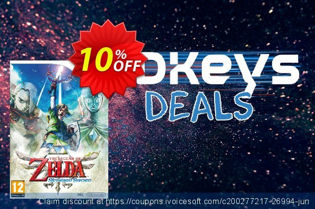 The Legend of Zelda: Skyward Sword Wii U - Game Code discount 10% OFF, 2020 Black Friday offering sales