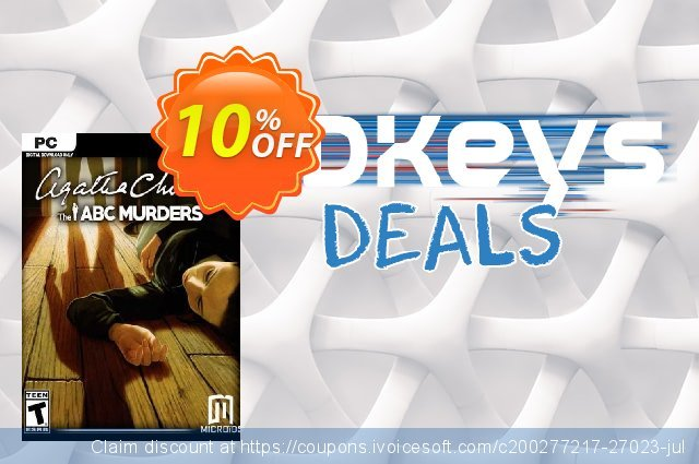 Agatha Christie The ABC Murders PC discount 10% OFF, 2020 Thanksgiving Day offering discount