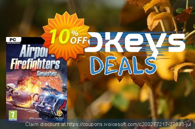 Airport Firefighters The Simulation PC discount 10% OFF, 2020 Black Friday offering sales
