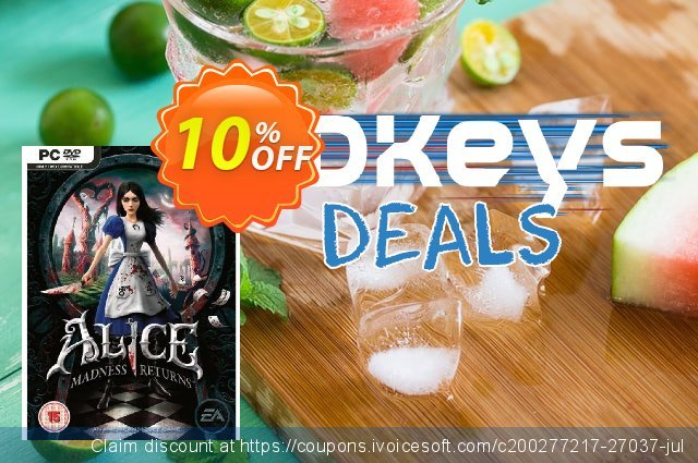 Alice: Madness Returns (PC) discount 10% OFF, 2020 Thanksgiving promotions