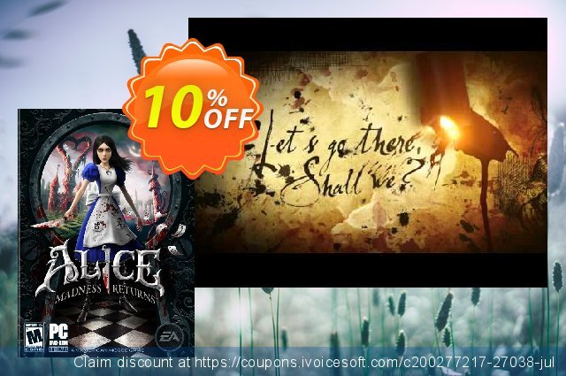 Alice Madness Returns PC discount 10% OFF, 2020 Thanksgiving Day sales
