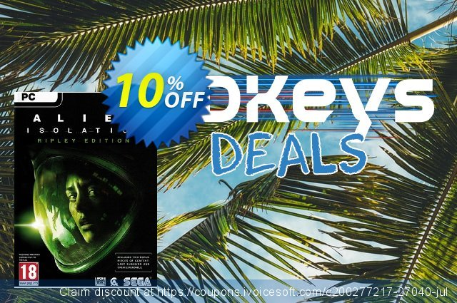 Alien Isolation Ripley Edition PC discount 10% OFF, 2021 New Year's Weekend offering sales