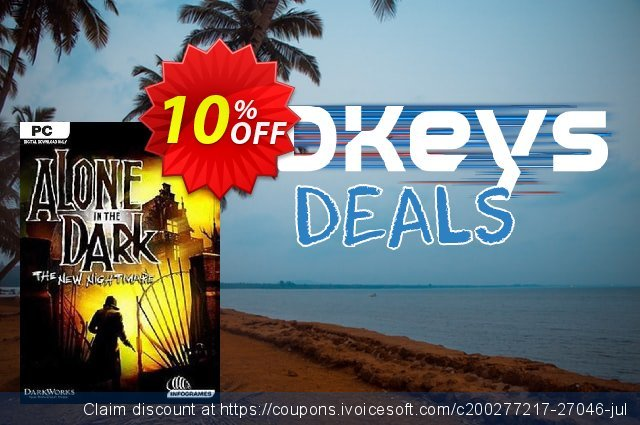 Alone in the Dark The New Nightmare PC discount 10% OFF, 2020 Xmas Day offering sales