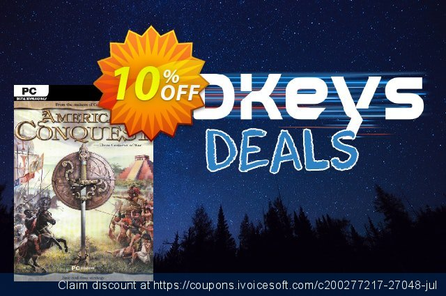 American Conquest PC discount 10% OFF, 2020 Black Friday offering sales
