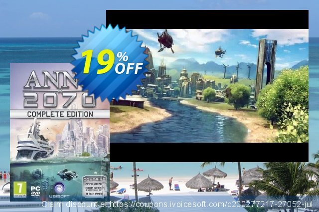 Anno 2070 Complete Edition PC discount 10% OFF, 2020 Thanksgiving offering sales
