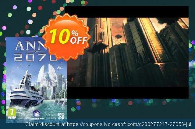 Anno 2070 PC discount 10% OFF, 2020 Thanksgiving Day offering sales