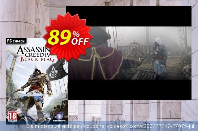 Assassin's Creed IV 4: Black Flag PC discount 10% OFF, 2020 Black Friday promotions