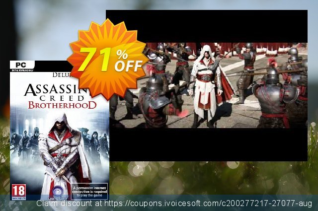 Assassin's Creed: Brotherhood - Deluxe Edition PC discount 68% OFF, 2020 Thanksgiving Day deals