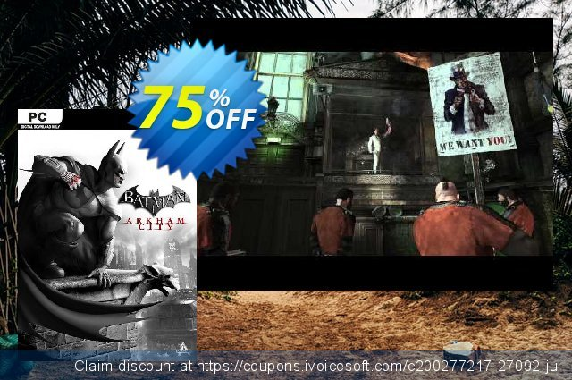 Batman: Arkham City (PC) discount 10% OFF, 2020 Thanksgiving Day offering sales