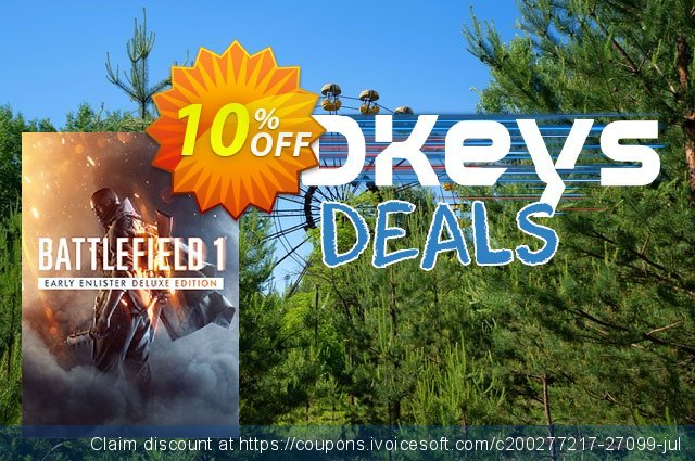 Battlefield 1 Early Enlister Deluxe Edition PC discount 10% OFF, 2020 Black Friday offering discount
