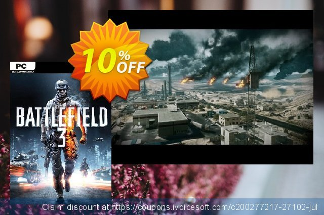 Battlefield 3 (PC) discount 10% OFF, 2020 Black Friday promo sales