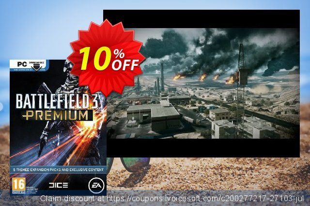 Battlefield 3: Premium Expansion Pack (PC) discount 10% OFF, 2020 Thanksgiving promo