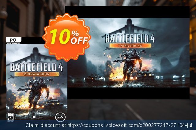 Battlefield 4: China Rising PC discount 10% OFF, 2021 Spring promotions
