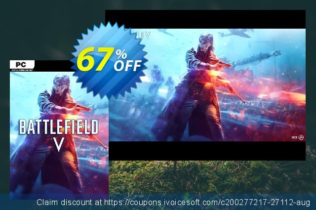 Battlefield V 5 PC discount 67% OFF, 2020 New Year's eve promotions