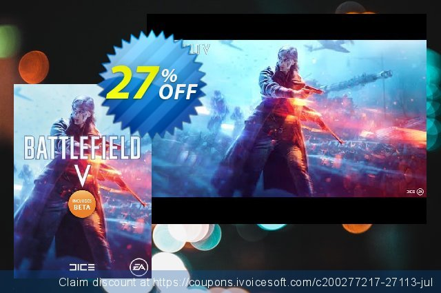 Battlefield V 5 PC + BETA discount 27% OFF, 2020 College Student deals offering sales