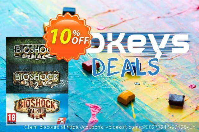 Bioshock Triple Pack PC discount 10% OFF, 2020 Black Friday offering sales