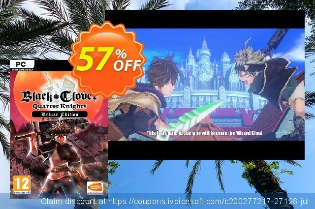 Black Clover: Quartet Knights Deluxe Edition PC discount 77% OFF, 2020 Thanksgiving Day offering sales