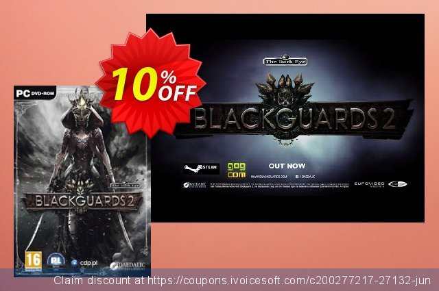 Blackguards 2 PC discount 10% OFF, 2020 Black Friday promotions