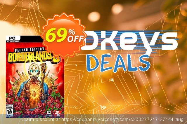 Borderlands 3 - Deluxe Edition PC (Steam) discount 60% OFF, 2020 Christmas Day offering sales