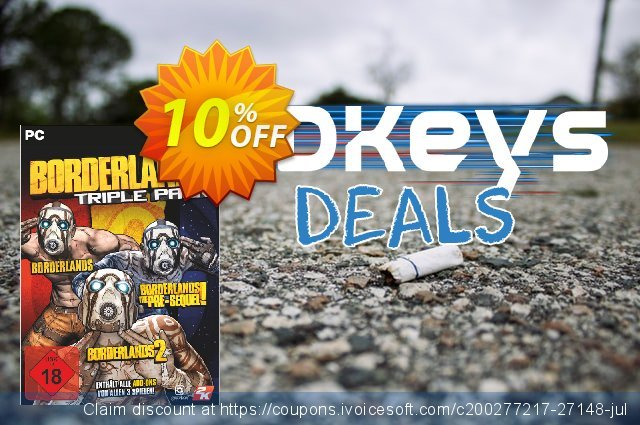 Borderlands: Triple Pack PC discount 10% OFF, 2020 Thanksgiving offering sales