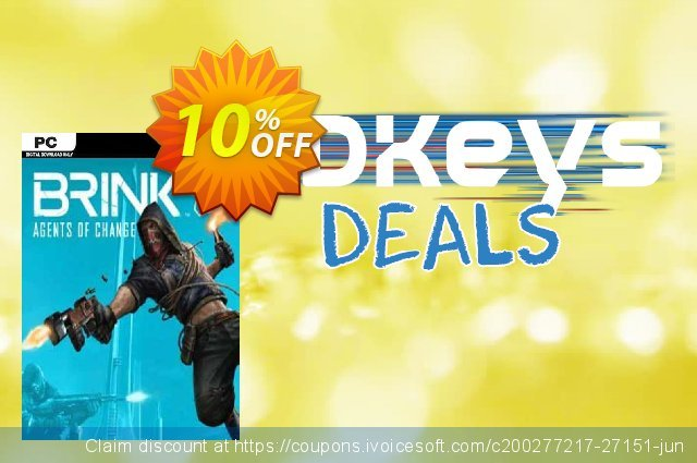 BRINK Agents of Change PC discount 10% OFF, 2020 Thanksgiving promotions