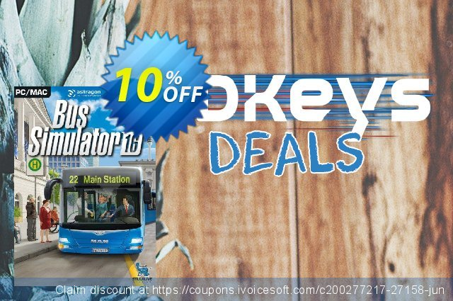 Bus Simulator 2016 PC discount 10% OFF, 2020 Thanksgiving Day offering deals