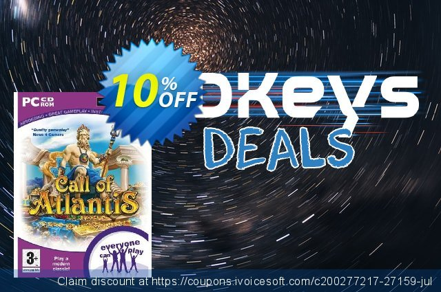 Call Of Atlantis (PC) discount 10% OFF, 2021 New Year's Weekend offering sales