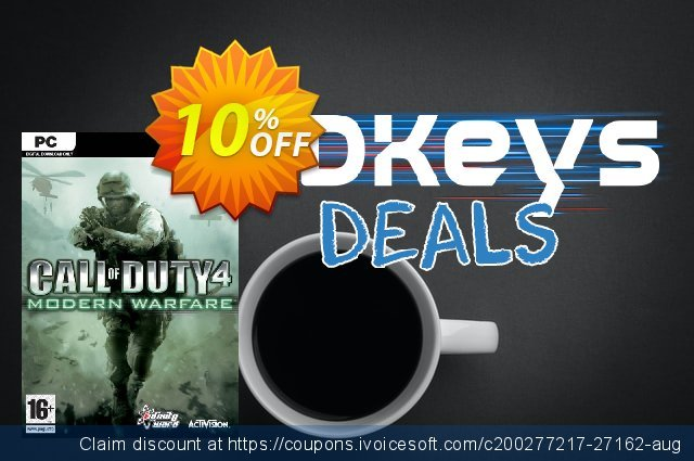Call of Duty 4 Modern Warfare PC discount 10% OFF, 2020 Black Friday offering sales