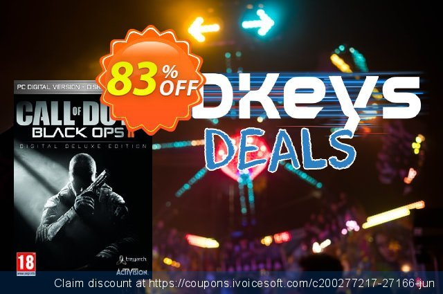 Call of Duty (COD) Black Ops II 2 Digital Deluxe Edition PC (GERMANY) discount 83% OFF, 2020 Thanksgiving offering sales