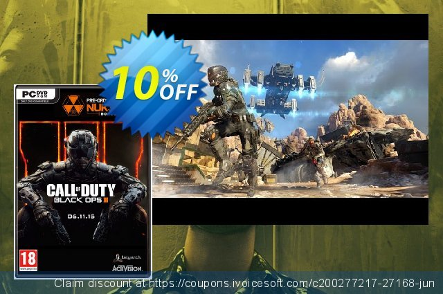 Call of Duty (COD): Black Ops III 3 + Nuketown DLC (PC) discount 10% OFF, 2020 Student deals offering sales