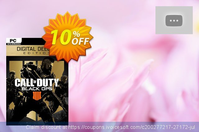 Call of Duty (COD) Black Ops 4 Deluxe Edition PC (US) discount 10% OFF, 2020 Thanksgiving deals