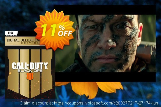 Call of Duty (COD) Black Ops 4 Deluxe Enhanced Edition PC (EU) discount 11% OFF, 2020 Black Friday discount