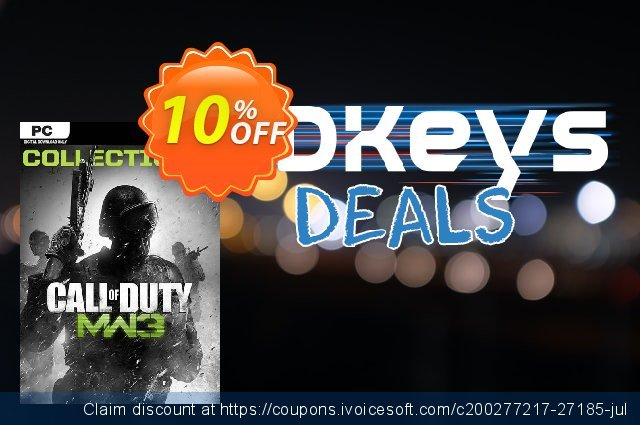 Call of Duty Modern Warfare 3 Collection 2 PC discount 10% OFF, 2020 Thanksgiving Day offering sales