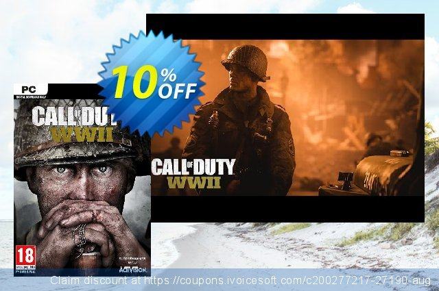 Call of Duty (COD) WWII PC (APAC) discount 10% OFF, 2020 Thanksgiving sales