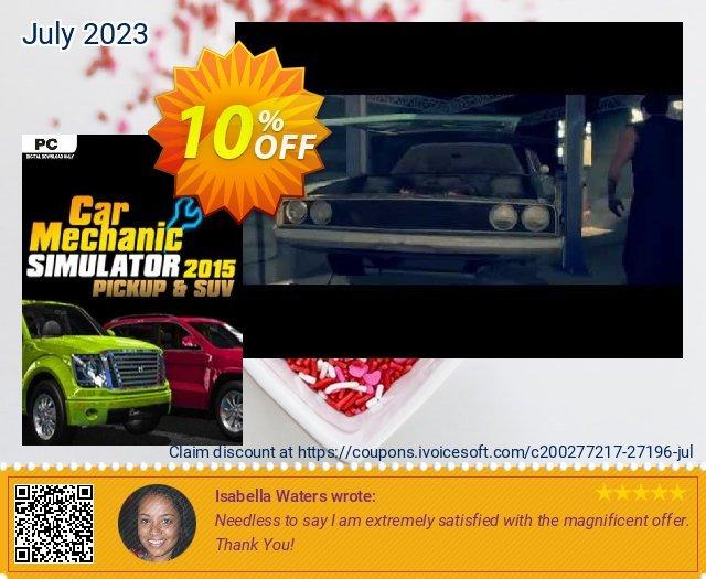 Car Mechanic Simulator 2015 PickUp & SUV PC 대단하다  촉진  스크린 샷