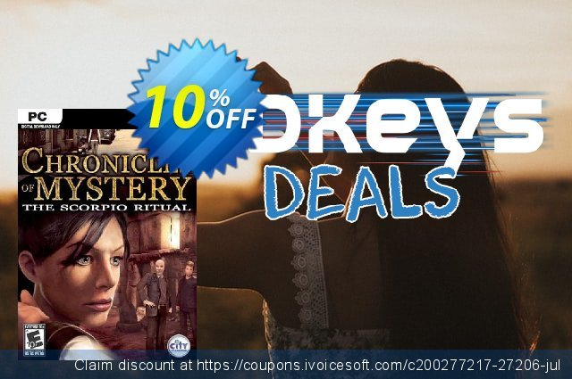 Chronicles of Mystery The Scorpio Ritual PC discount 10% OFF, 2020 New Year's Day discounts
