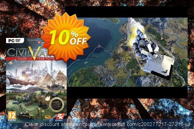 Civilization V 5 - Game Of The Year Edition PC discount 10% OFF, 2020 Black Friday promo sales