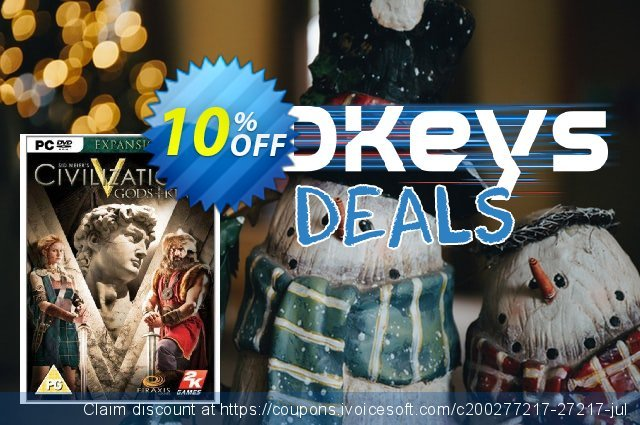 Civilization V 5 Gods and Kings (PC) discount 10% OFF, 2020 Xmas Day offering sales